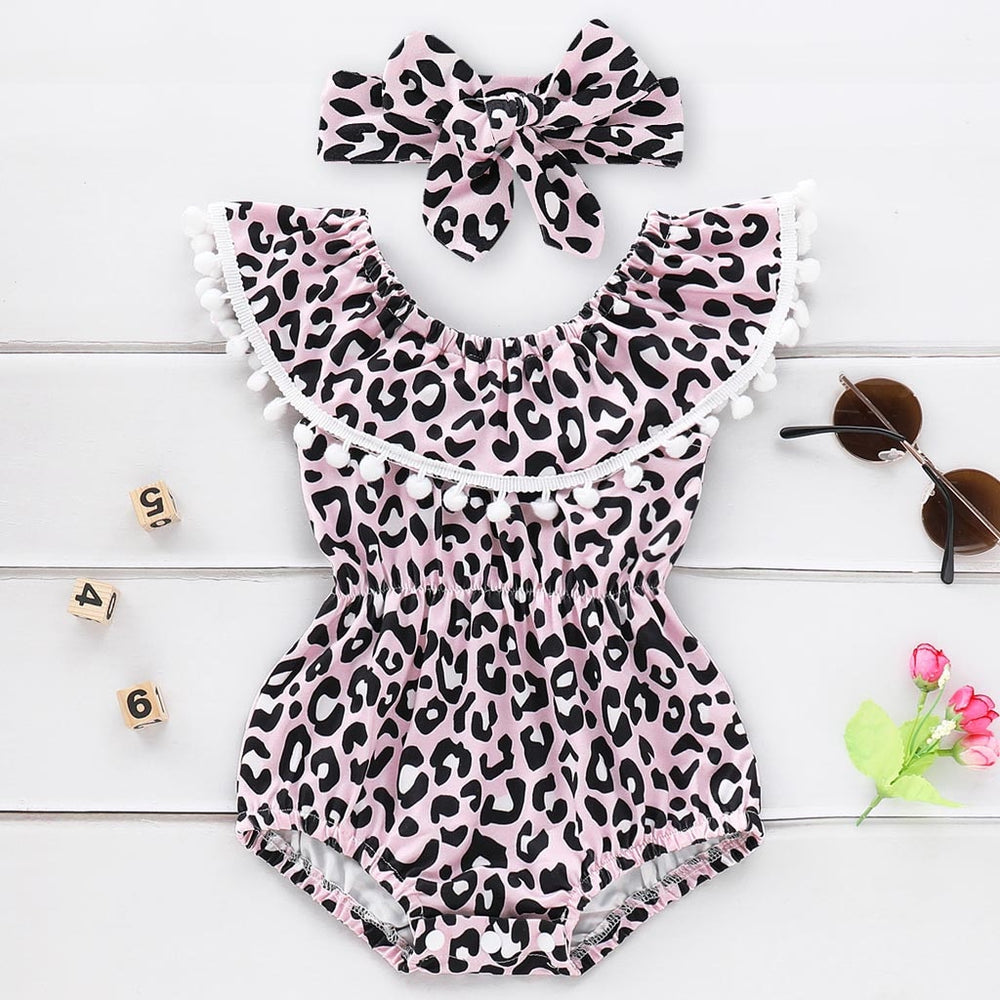 Lovely Leopard Ruffles Swimsuit