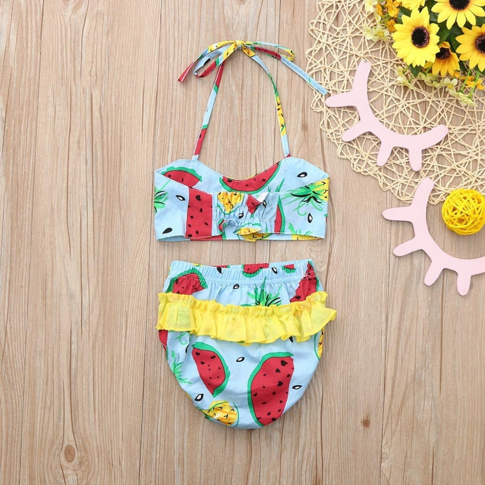 Watermelon Print Bikini Set
