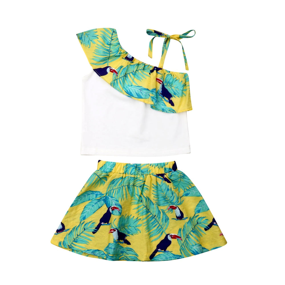 Tropic Ruffle Clothes Set