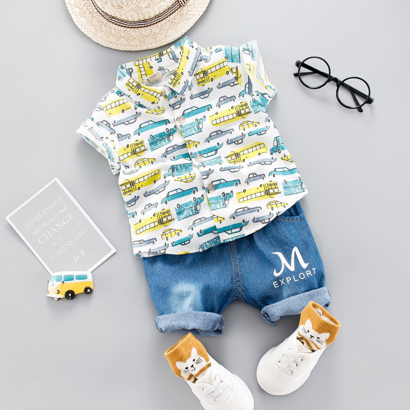 Cool Car Print 2Pcs Set
