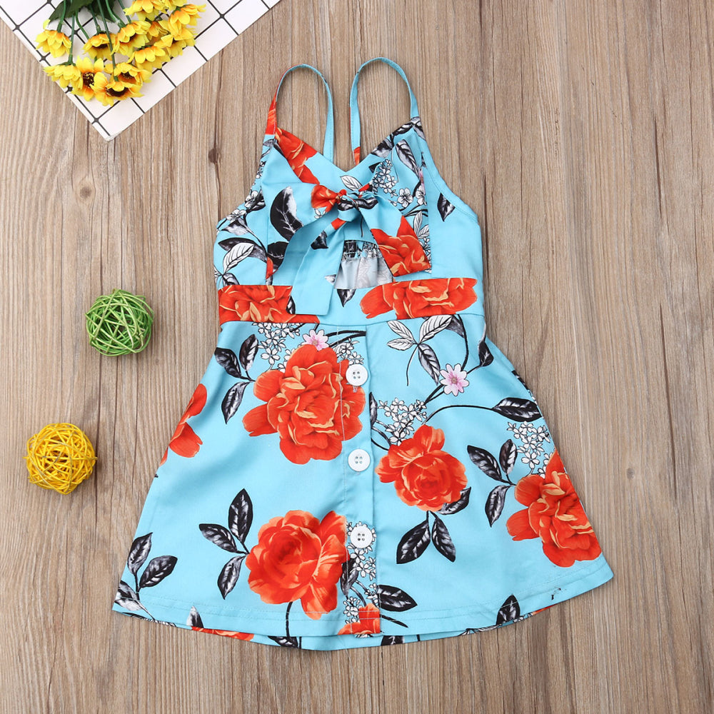 Floral Sling Bow Sundress