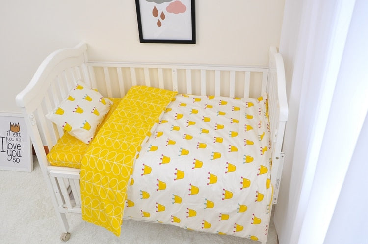 Yellow Crown Baby Bedding Set