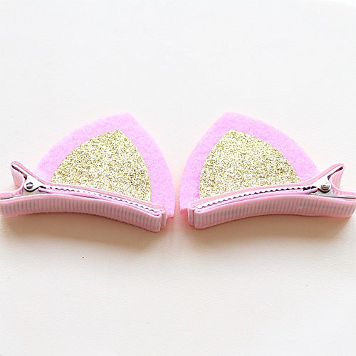Girls Hair Clip Lovely Cat Ear Hairpins Kids Hair Ornaments Hair Jewelry Children Hair Accessories