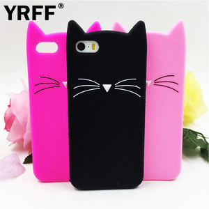 NEW cute cat ears and whiskers soft silicone case iPhone 5s 5 se 6 6s plus 7 plus phone cover case
