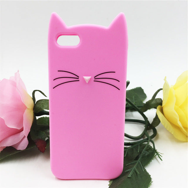 f1e01d07cb53bf ... NEW cute cat ears and whiskers soft silicone case iPhone 5s 5 se 6 6s  plus ...