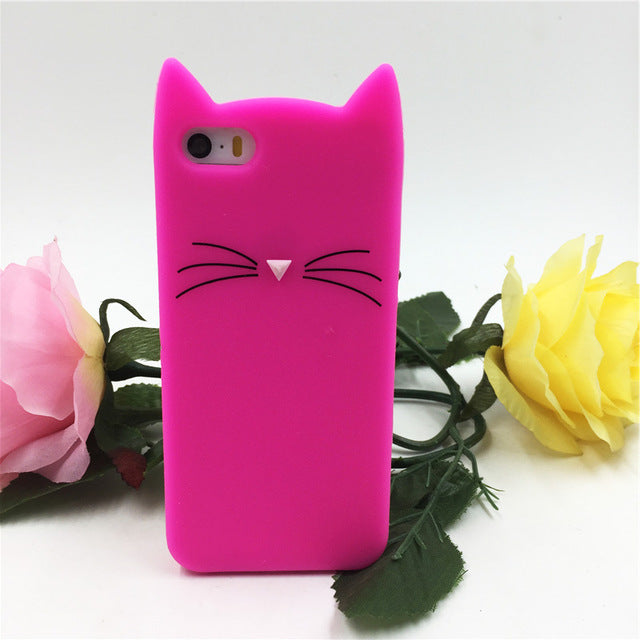 d9e50878930322 ... NEW cute cat ears and whiskers soft silicone case iPhone 5s 5 se 6 6s  plus