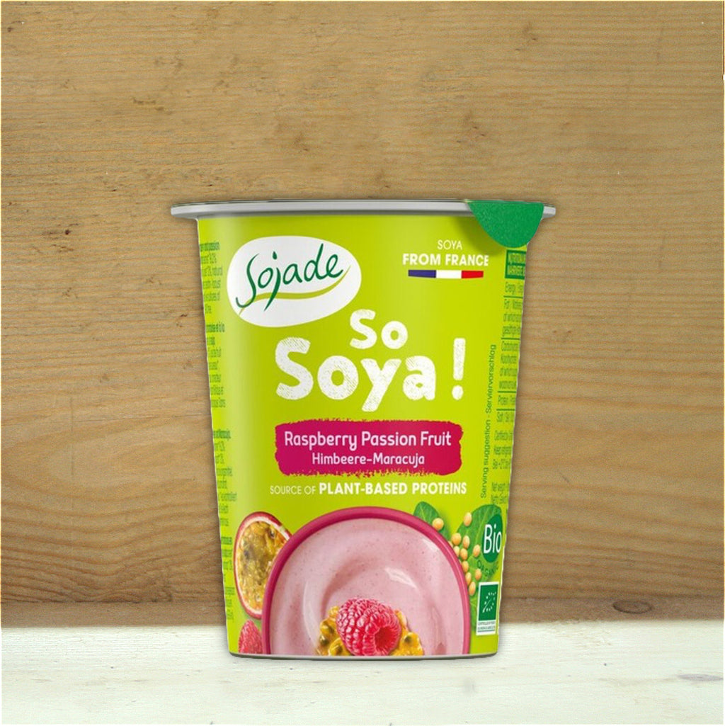 Yoghurt Raspberry & Passion Fruit Soya 125g
