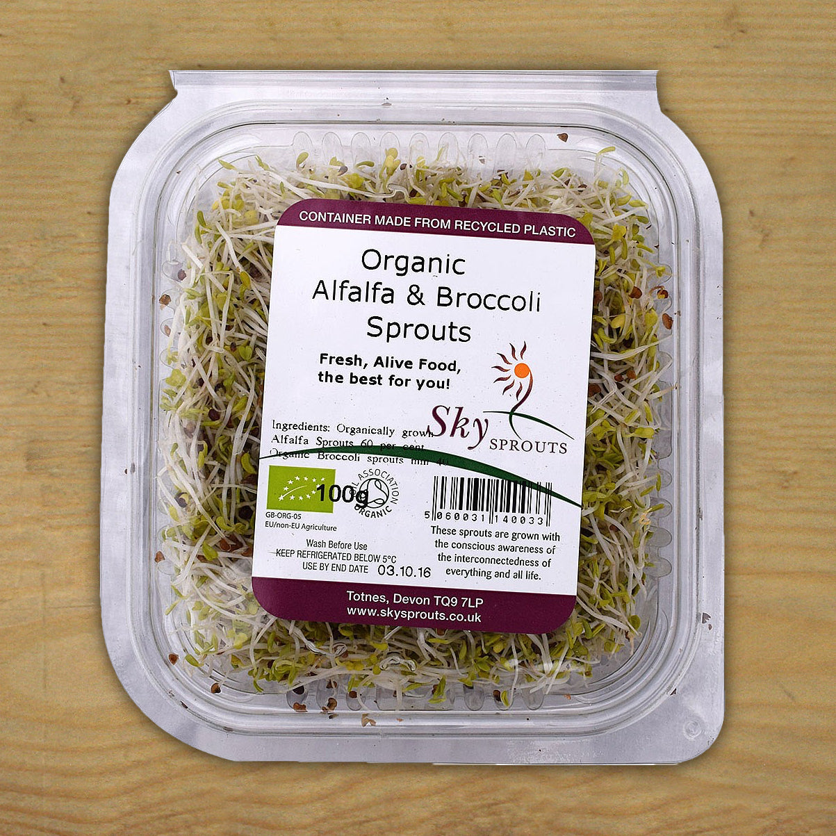 Alfalfa & Broccoli Sprouts 100g
