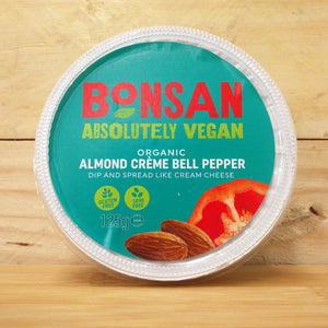 Bonsan Almond Creme Bell Pepper - Cream Cheese Vegan Alternative