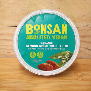 Bonsan Almond Creme Garlic - Cream Cheese Vegan Alternative