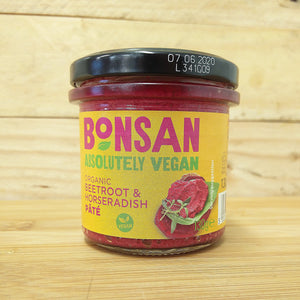 Bonsan Vegan Pate - Beetroot & Horseradish