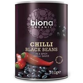 Biona Chilli Black Beans 410g