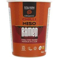 King Soba Chilli Miso Ramen Noodle Cup 85g