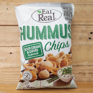 Eat Real Hummus Chips Sour Cream & Chives Crisps