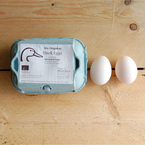 Six Organic Duck Eggs