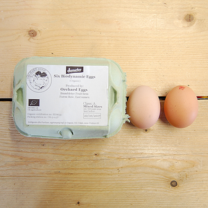 Six Biodynamic Eggs - Mixed Sizes