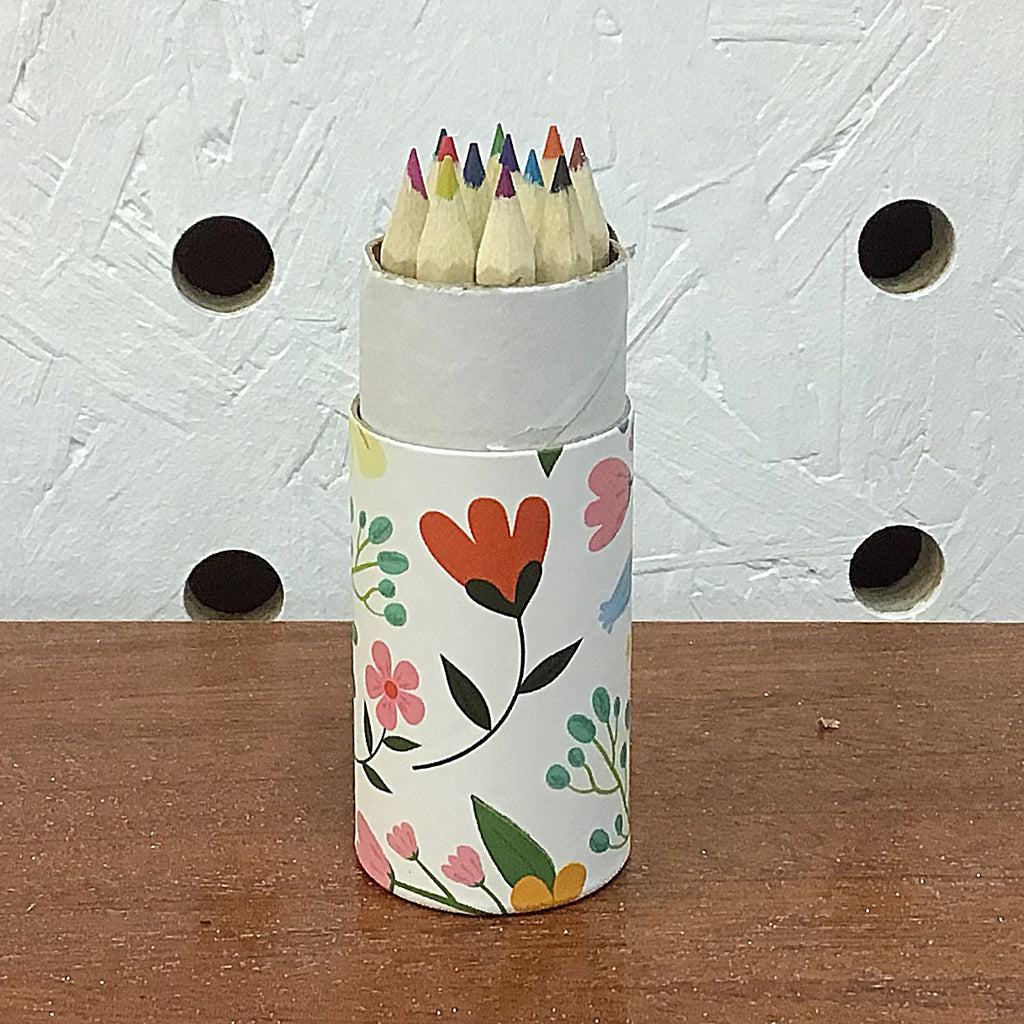 Floral Pattern Set of 12 Pencils