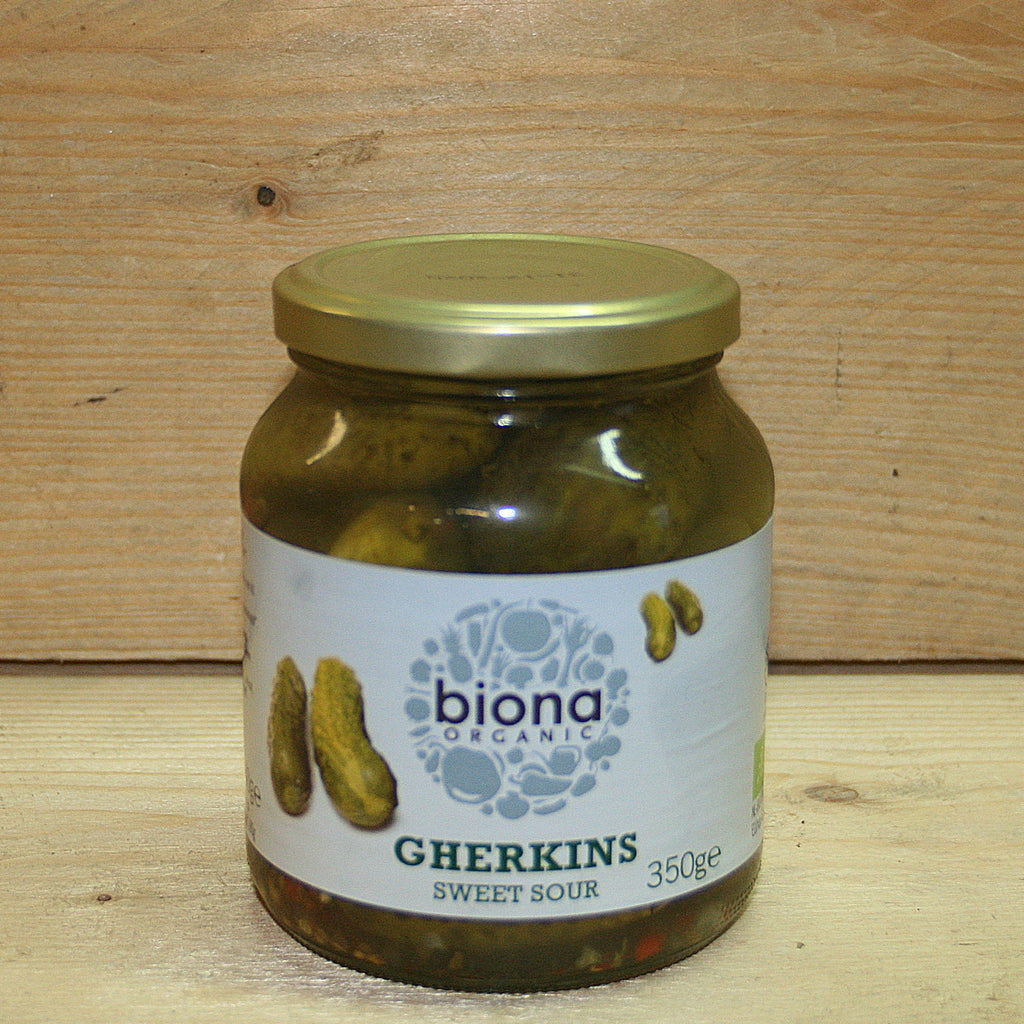 Biona Sweet Sour Gherkins 350g