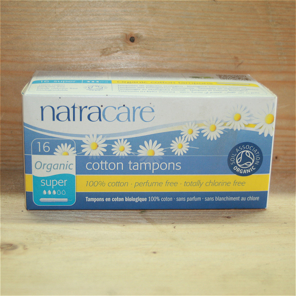 Natracare 16 Cotton Applicator Tampons Super