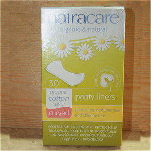Natracare 30 Panty Liners 100% Cotton
