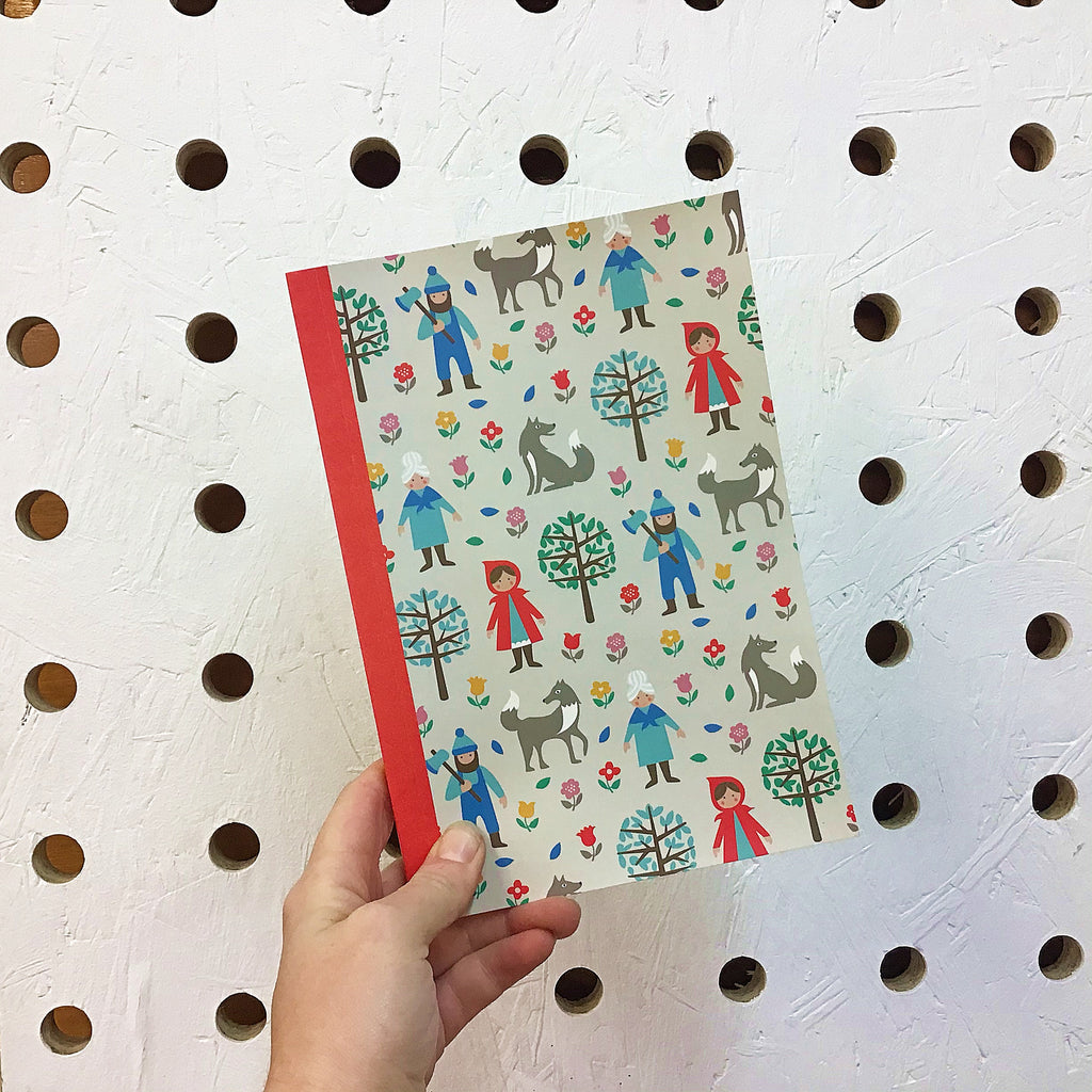 Red Riding Hood A5 Lined Notebook