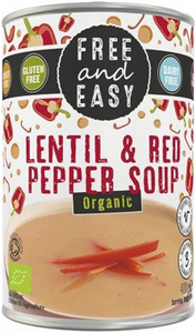 Free & Easy Lentil & Red Pepper Soup