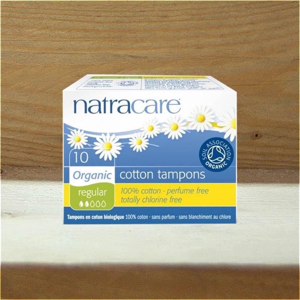 Natracare 20 Cotton Non-Applicator Tampons Super Plus