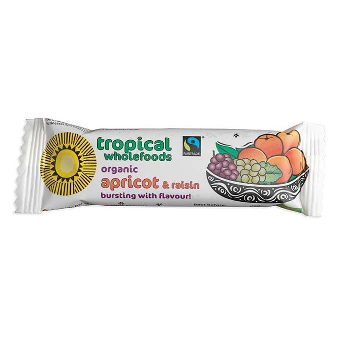 Tropical Wholefoods Apricot & Raisin Bar