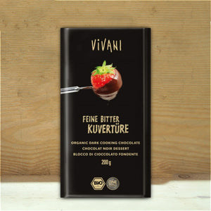 Vivani Kuveture Dark Cooking Chocolate 200g