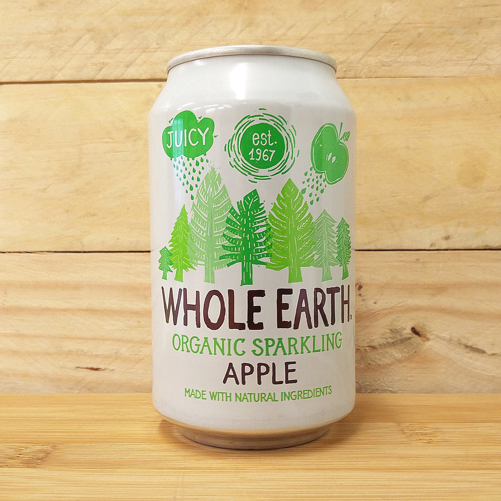 Whole Earth Fizzy Can Apple 330ml