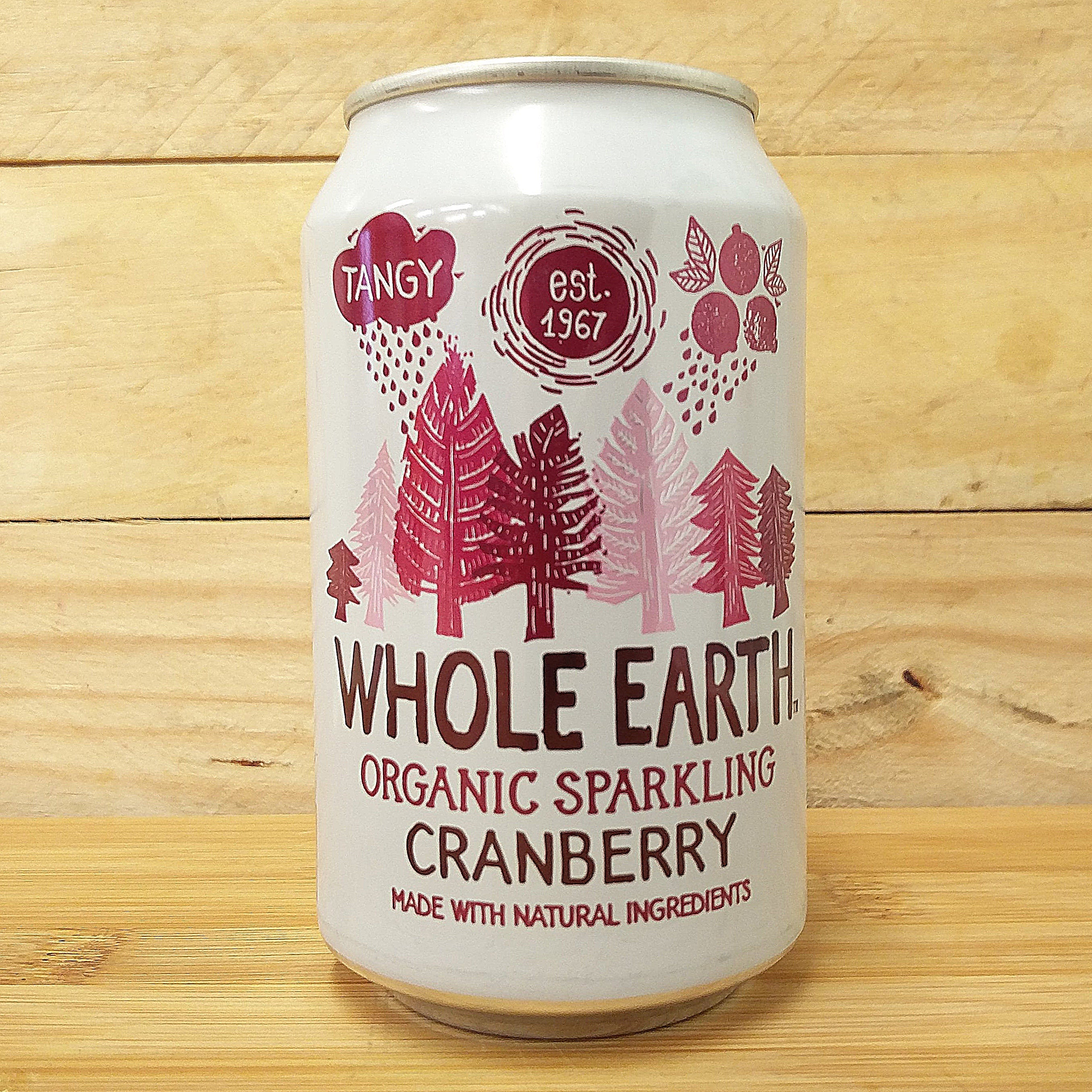 Whole Earth Fizzy Can Cranberry 330ml