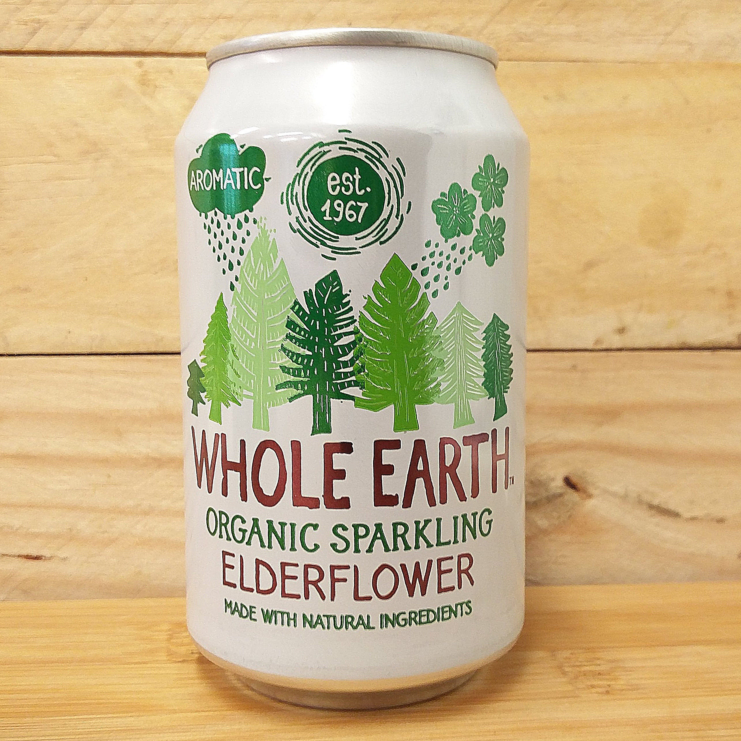 Whole Earth Fizzy Can Elderflower 330ml