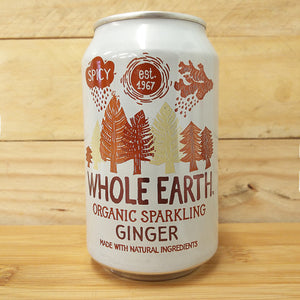 Whole Earth Fizzy Can Ginger 330ml