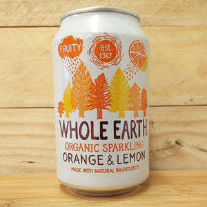 Whole Earth Fizzy Can Orange & Lemon 330ml SALE