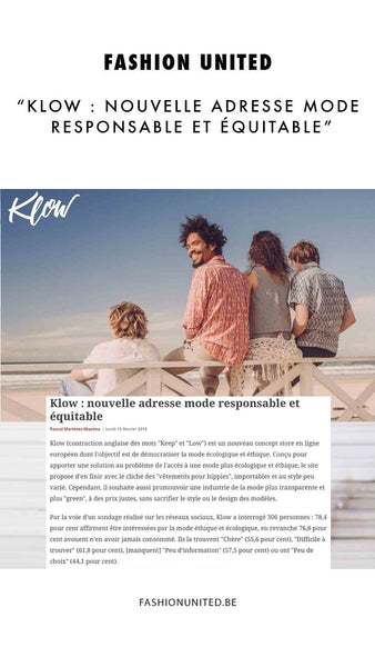 Fashion United - Presse Klow - Ethical Fashion E-shop