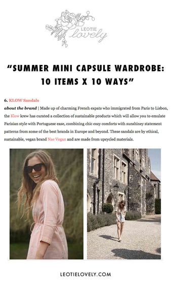 LEOTIE LOVELY - SUSTAINABLE FASHION: 10 ITEMS X 10 WAYS