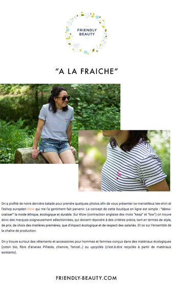 Friendly Beauty - Presse Klow - Fresh with Klow, ethical and ecological concept store