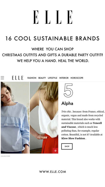 Elle.com Klow clippings Cool sustainable brands