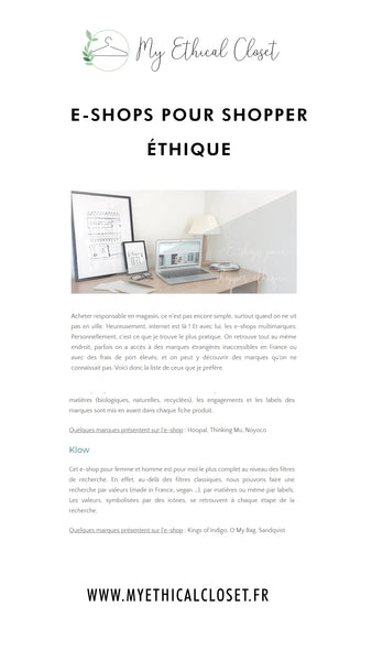 eshops for shopper ethique