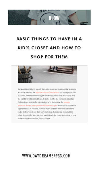 basic thing to have in a kids closet and how to shop for them