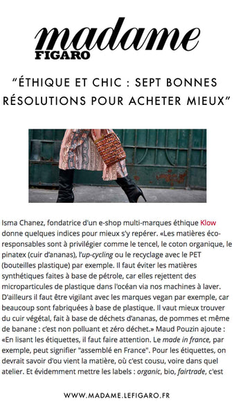 Madame Figaro - Klow article