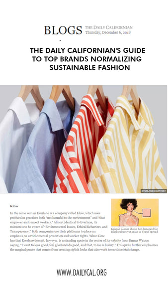 The Daily Californian's guide to top brands normalizing sustainable fashion
