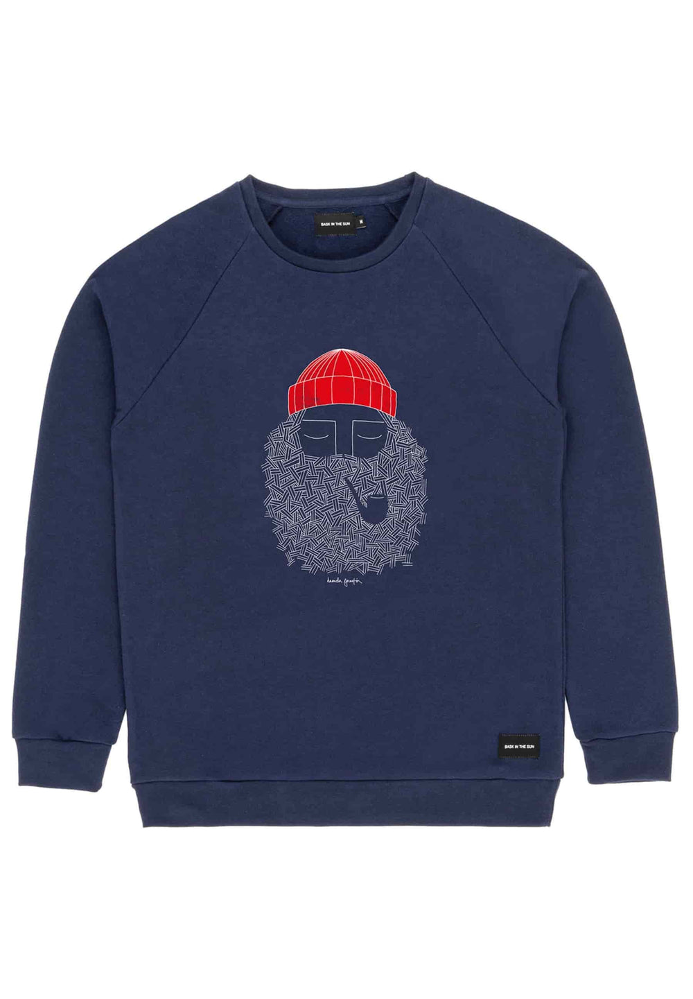 BASK IN THE SUN Sweat-shirts Sweatshirt Smoking Pipe Bleu nuit