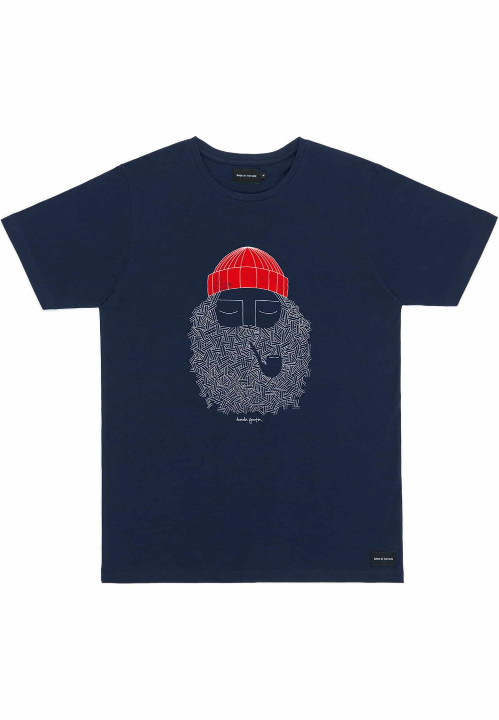 BASK IN THE SUN T-shirts T-shirt Smoking Pipe navy