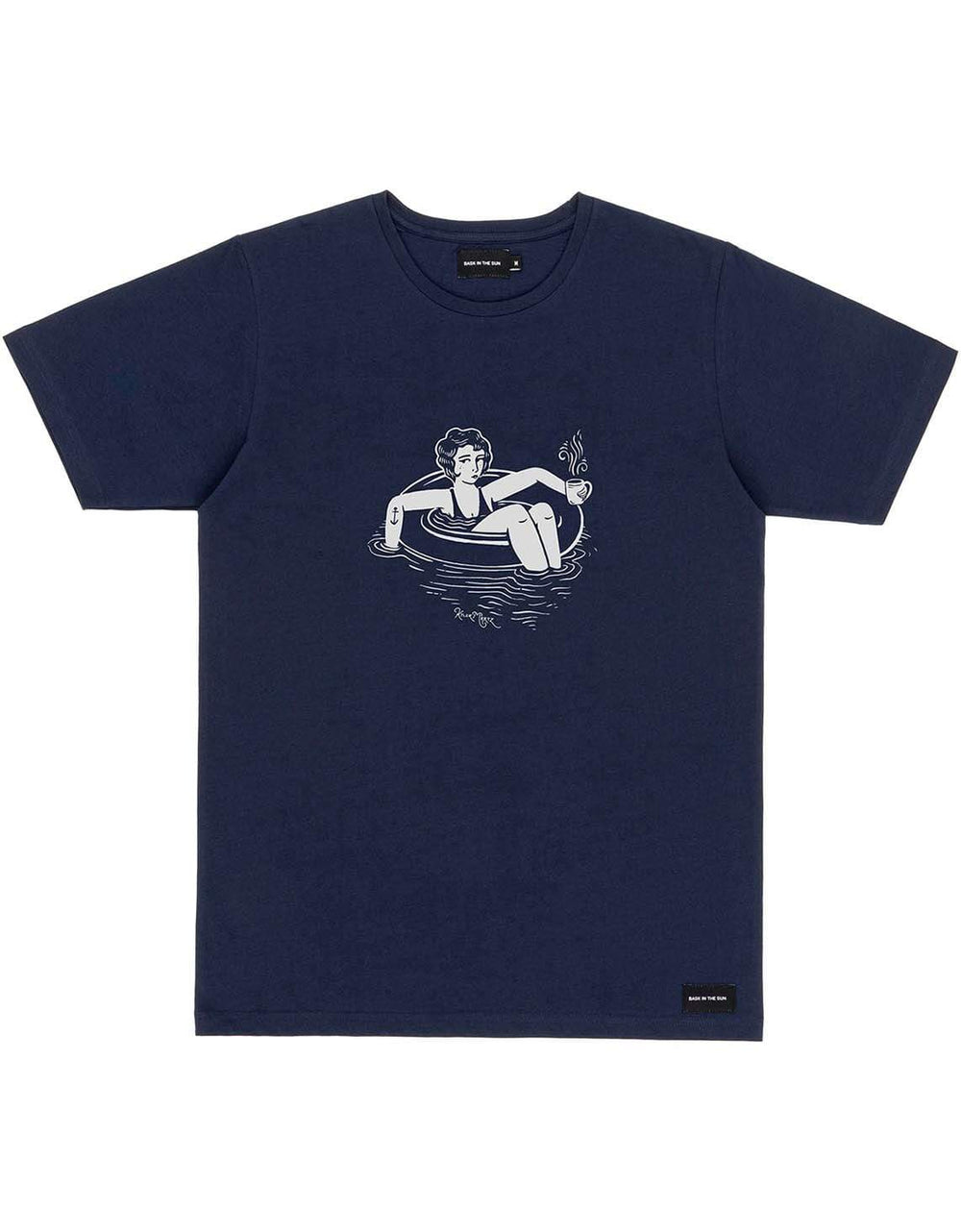 BASK IN THE SUN T-shirts T-shirts TUBE GIRL| Navy