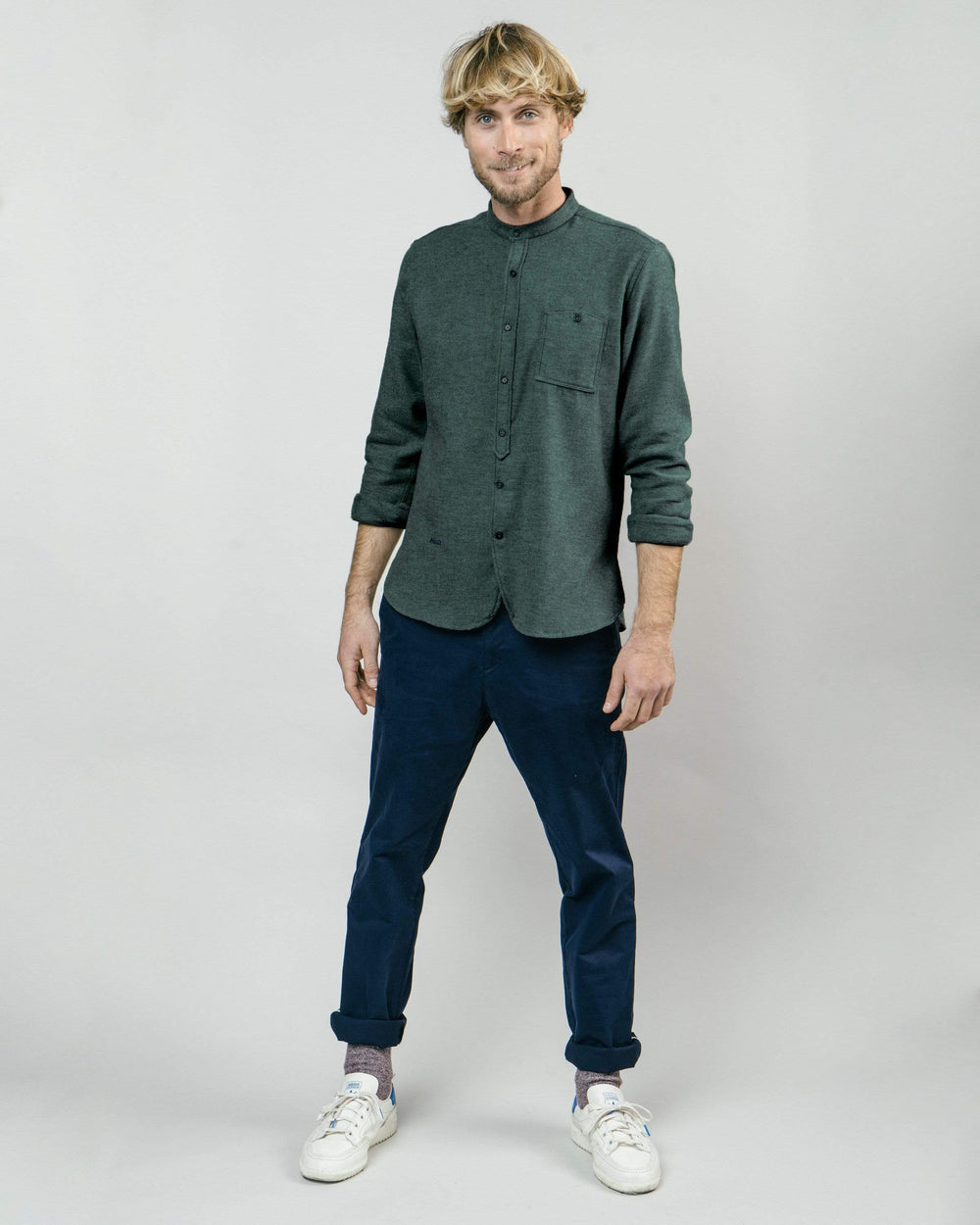 Brava Fabrics Long Sleeve Shirts Alaska Green Essential Shirt