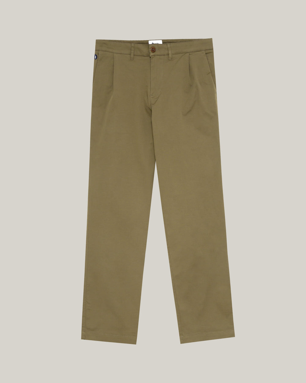 Brava Fabrics Trousers Chino Pleated Chino Camel