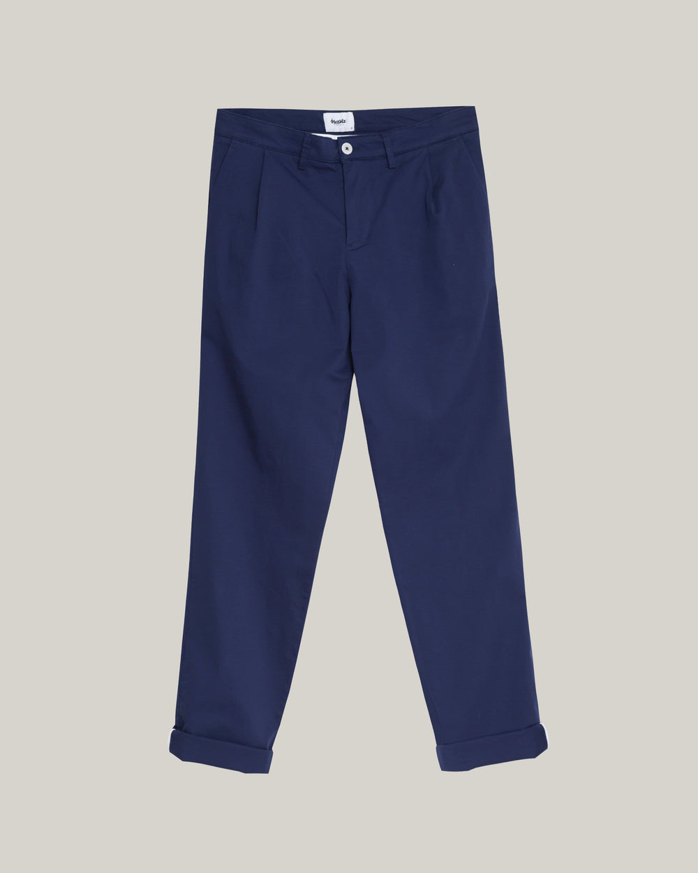 Brava Fabrics Trousers Pleated Chino Pants Navy
