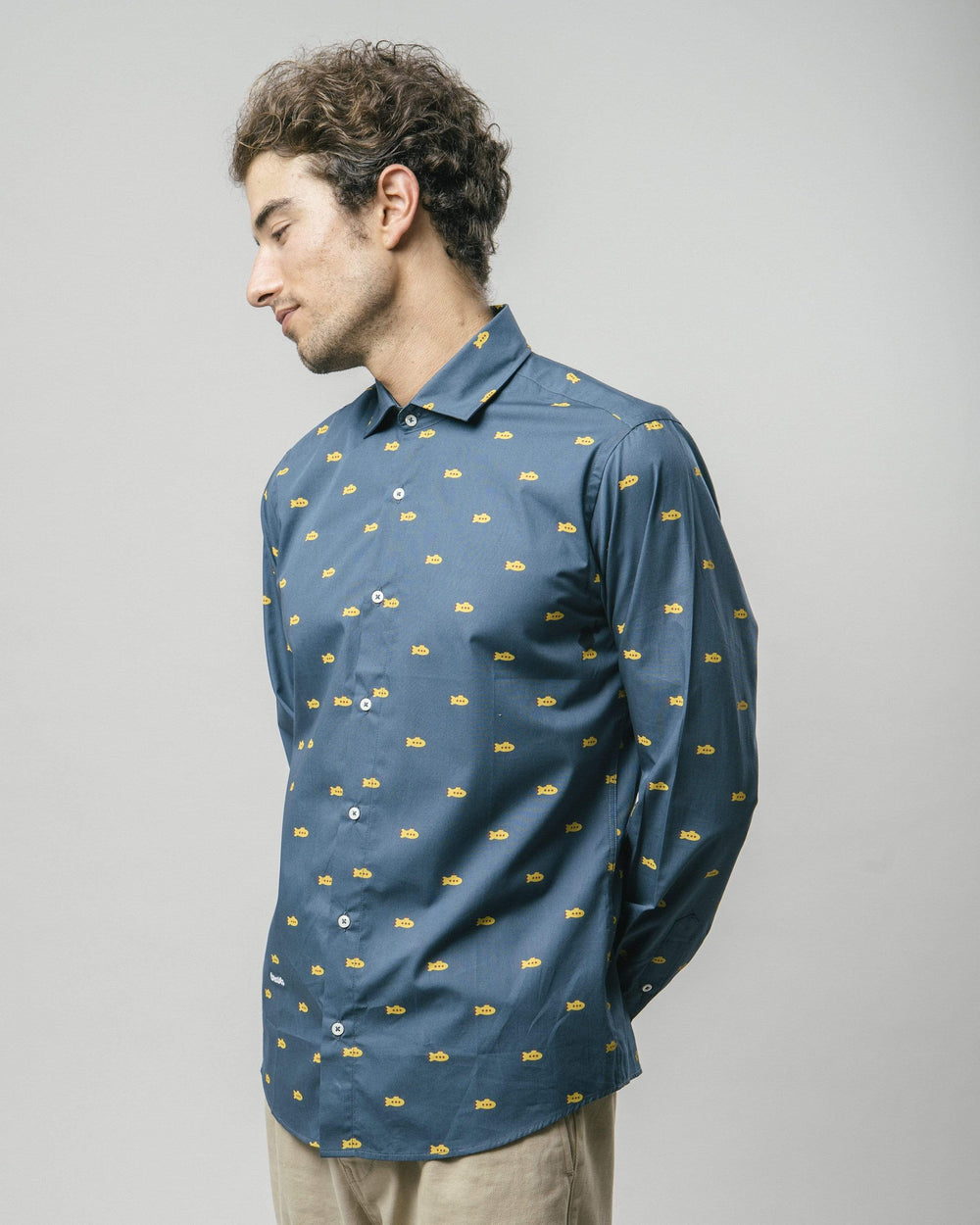 Brava Fabrics Shirts Yellow Submarine Printed Shirt