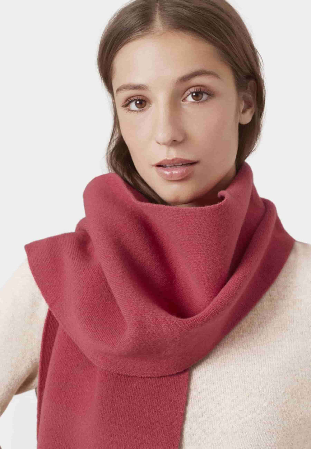 Colorful Standard Scarves Taille Unique Echarpe en Laine Mérinos Raspberry Pink
